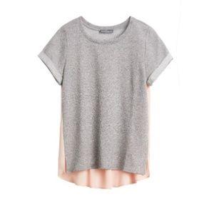 Market & Spruce - Short Sleeve Woven Back Top